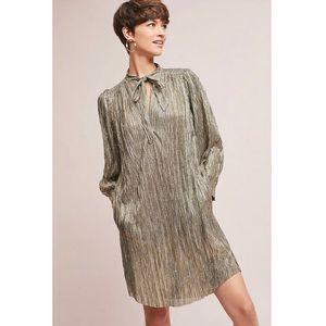 Anthropologie Sabina Musayev Eugene Metallic Dress
